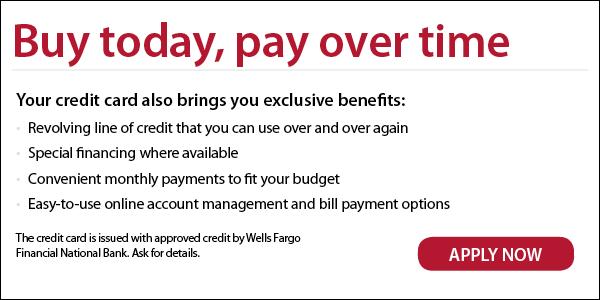 wells fargo financing offer